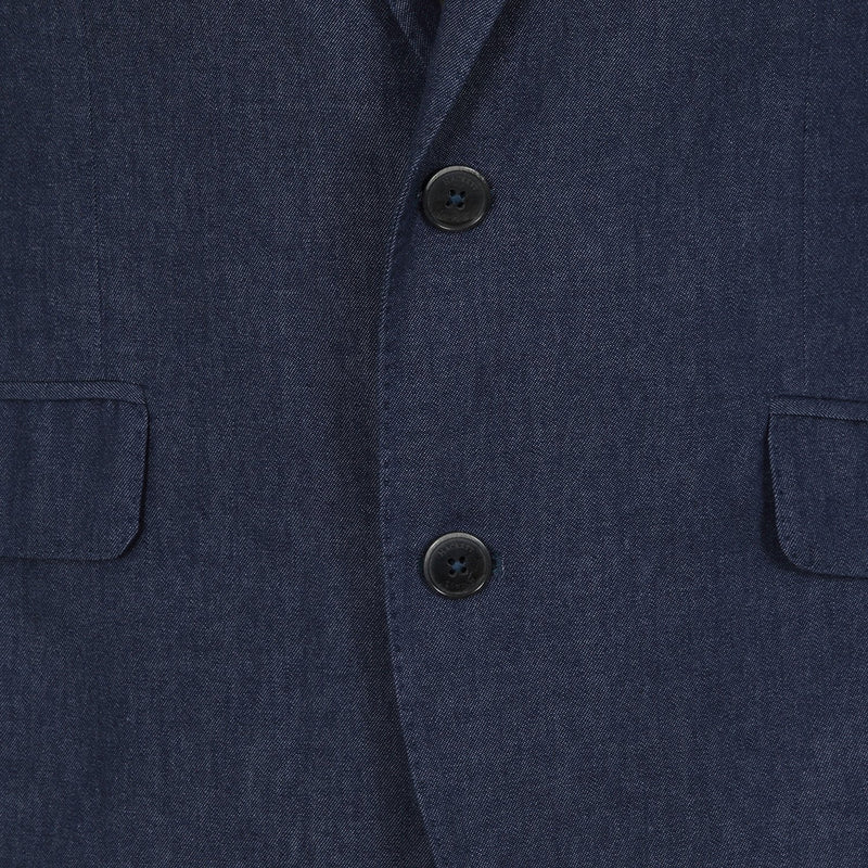 Hackett Single Breasted Chambray SB Savile Row Suit Denim | Malford of London Savile Row and Luxury Formal Wear Sale Outlet