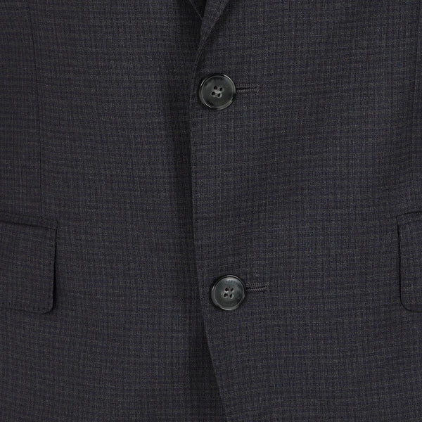 Hackett Single Breasted LT Wool Check B Savile Row Suit Navy | Malford of London Savile Row and Luxury Formal Wear Sale Outlet