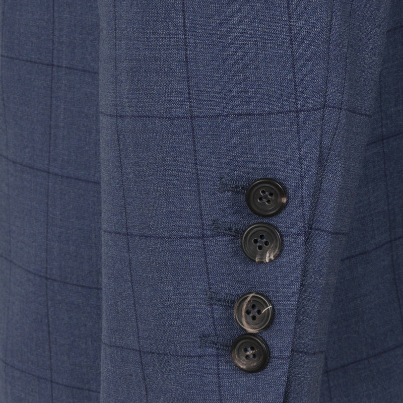 Hackett Single Breasted MYF Stretch WL WPANE Savile Row Suit Blue | Malford of London Savile Row and Luxury Formal Wear Sale Outlet
