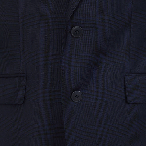 Hackett Single Breasted Prince Of Wales SB2 Savile Row Suit Dark Navy | Malford of London Savile Row and Luxury Formal Wear Sale Outlet