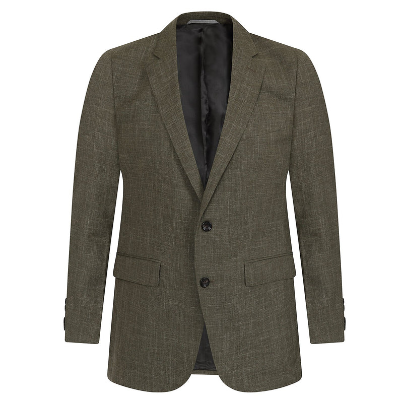 Hackett Single Breasted Silk Linen Savile Row Suit Khaki | Malford of London Savile Row and Luxury Formal Wear Sale Outlet