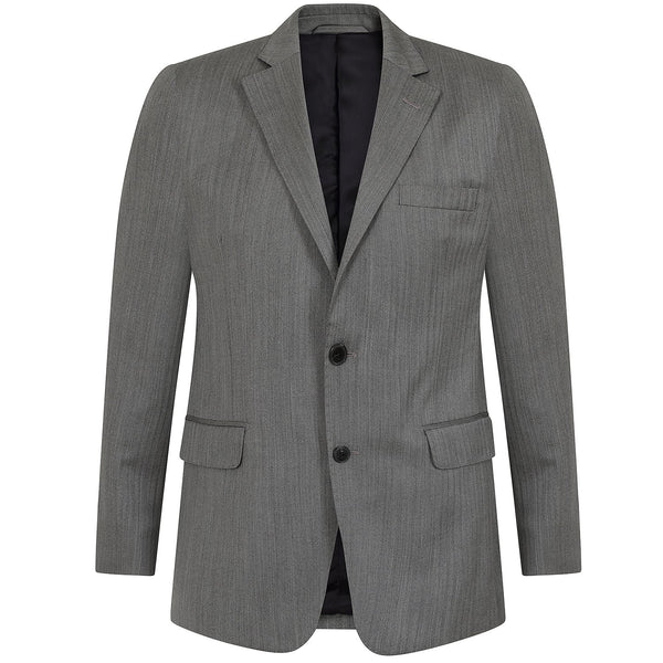 Hackett Single Breasted WL Grey Self Herringbone Savile Row Suit Grey | Malford of London Savile Row and Luxury Formal Wear Sale Outlet