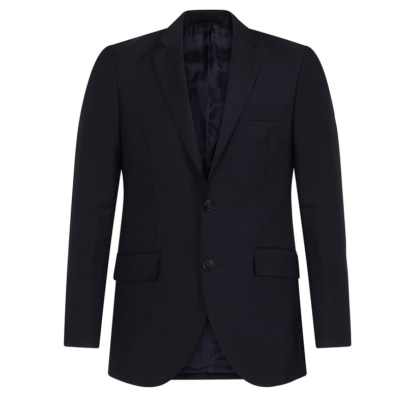 Hackett Single Breasted Wool Glenncheck Savile Row Suit Navy | Malford of London Savile Row and Luxury Formal Wear Sale Outlet