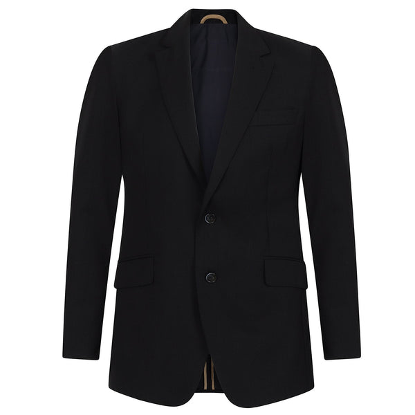 Hackett Travel Suit Dark Navy Tan Trim | Malford of London Savile Row and Luxury Formal Wear Sale Outlet