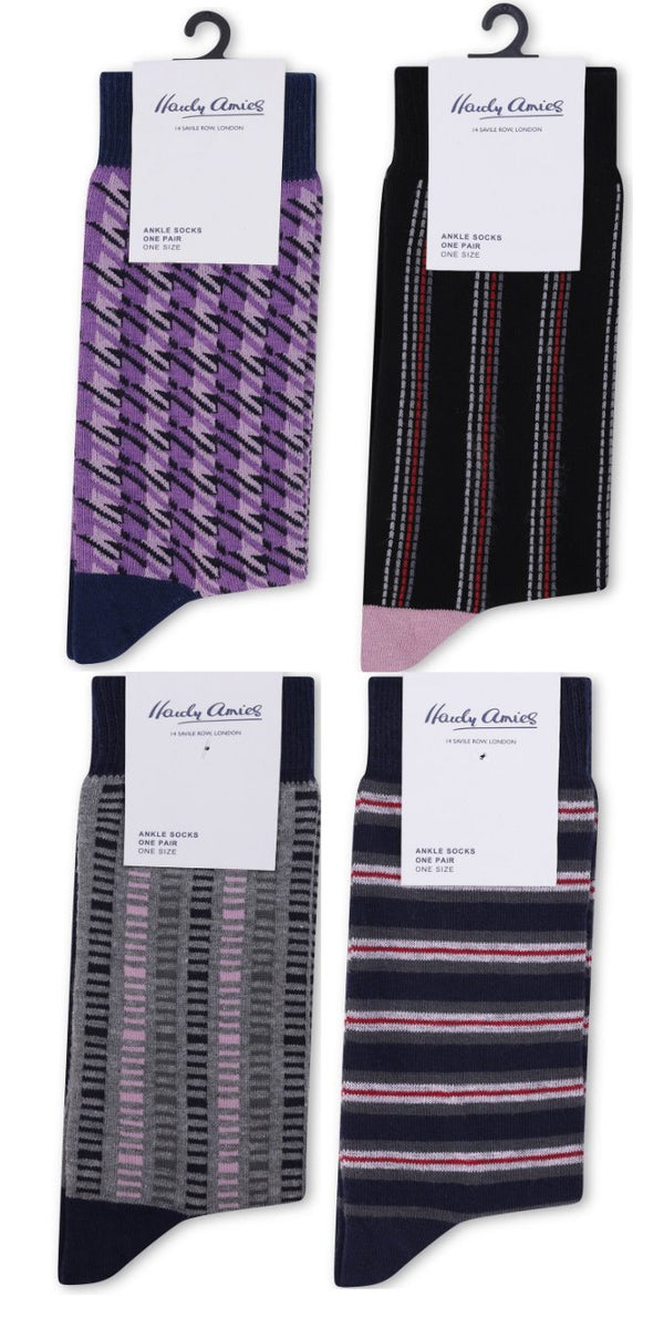 Hardy Amies 4 Pack Sock Bundle | Malford of London Savile Row and Luxury Formal Wear Sale Outlet