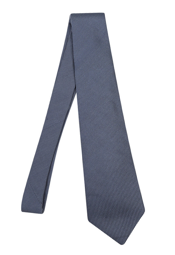 Hardy Amies ICE BLUE PLAIN WOVEN TIE | Malford of London Savile Row and Luxury Formal Wear Sale Outlet