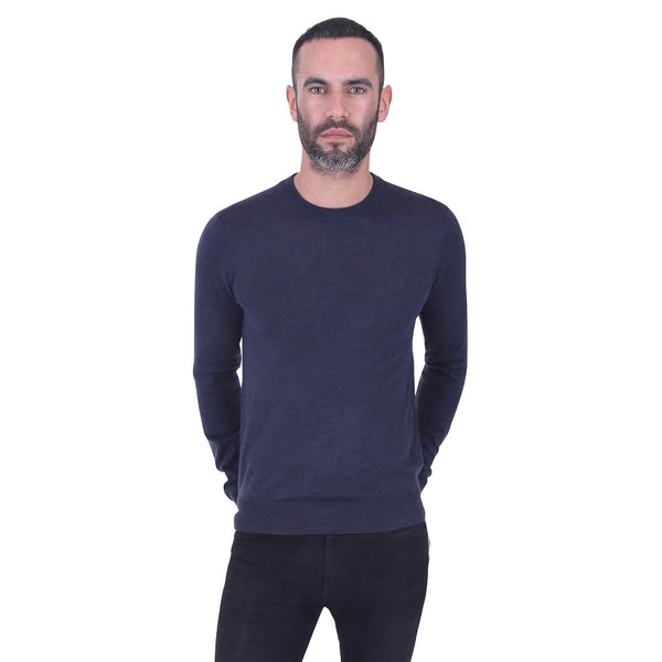 Hardy Amies MERINO WOOL CREW NECK JUMPER | Malford of London Savile Row and Luxury Formal Wear Sale Outlet