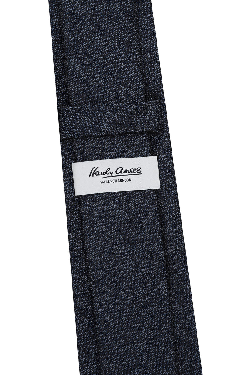Hardy Amies NAVY FLECK WOVEN TIE | Malford of London Savile Row and Luxury Formal Wear Sale Outlet