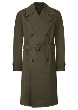 Joseph Abberton Khaki Cotton Belted Mac | Malford of London Savile Row and Luxury Formal Wear Sale Outlet