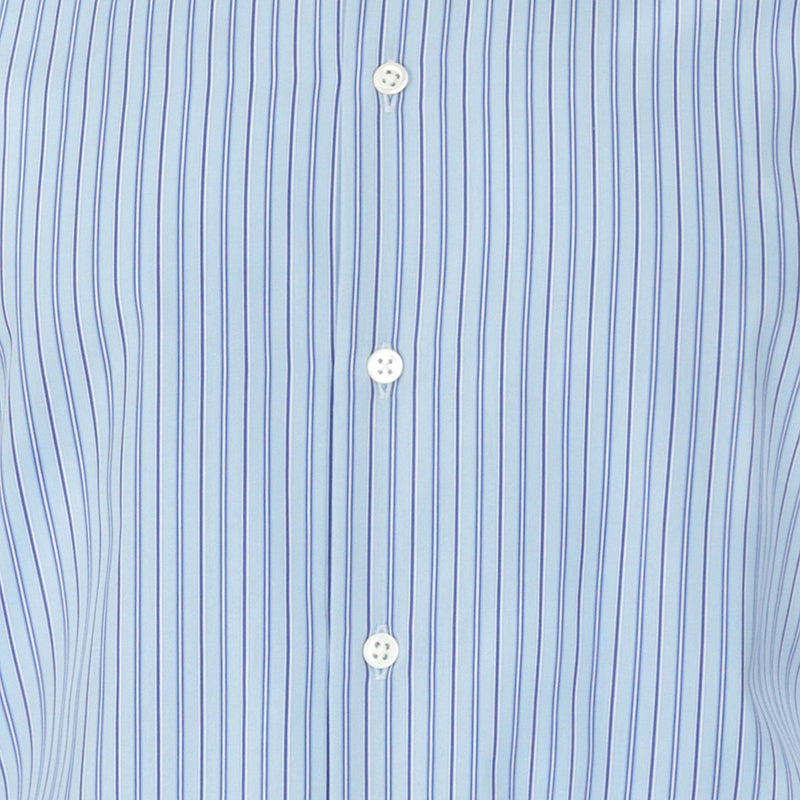 Joseph Blue Navy Pinstripe Cotton Shirt | Malford of London Savile Row and Luxury Formal Wear Sale Outlet