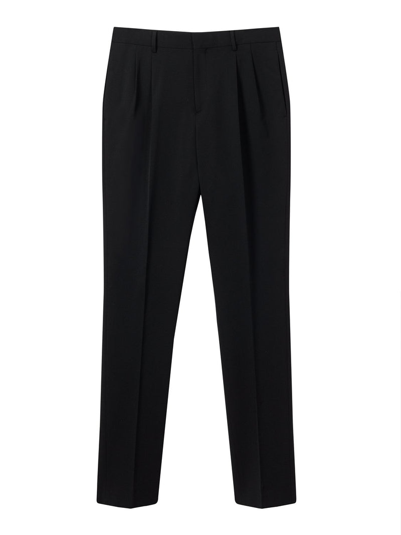 Joseph Clive Techno Wool Stretch Trouser Black | Malford of London Savile Row and Luxury Formal Wear Sale Outlet