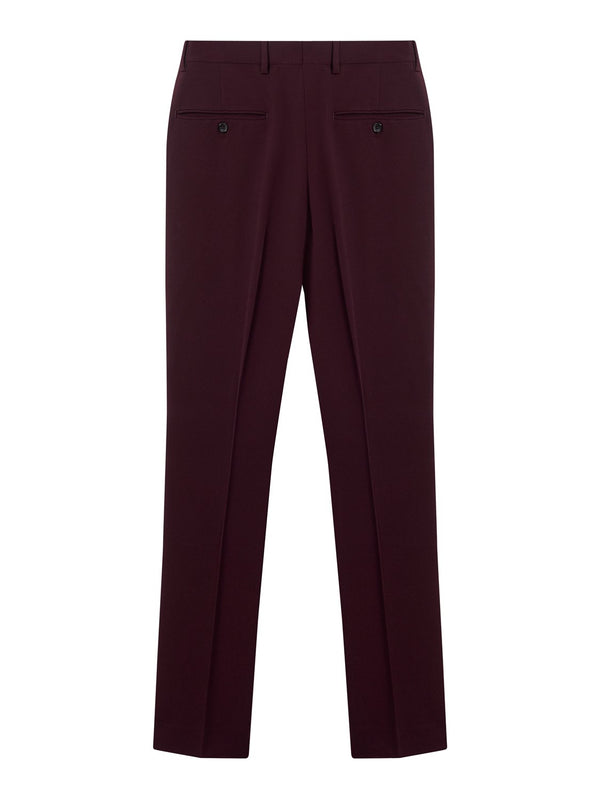 Joseph Clive Techno Wool Stretch Trouser Burgundy | Malford of London Savile Row and Luxury Formal Wear Sale Outlet
