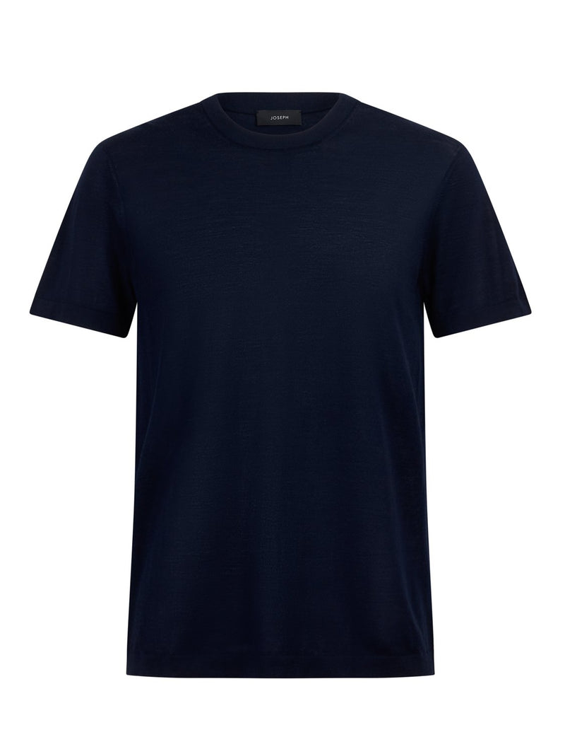 Joseph Crew Neck Short Sleeve Merino Navy | Malford of London Savile Row and Luxury Formal Wear Sale Outlet
