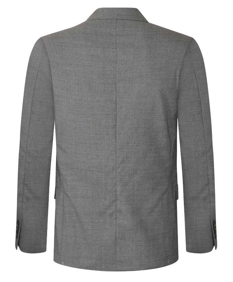 Joseph Fuddy Wool Melange Grey Chine Jacket | Malford of London Savile Row and Luxury Formal Wear Sale Outlet