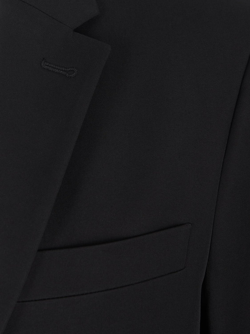 Joseph Hanford Polish Cotton Jacket Black | Malford of London Savile Row and Luxury Formal Wear Sale Outlet