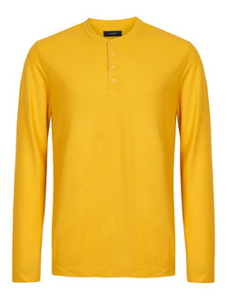 Joseph Henley Ice LS T-Shirt Dandelion | Malford of London Savile Row and Luxury Formal Wear Sale Outlet