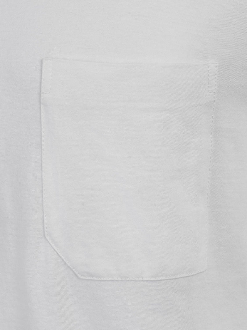 Joseph Mercerised Jersey White with Pocket | Malford of London Savile Row and Luxury Formal Wear Sale Outlet