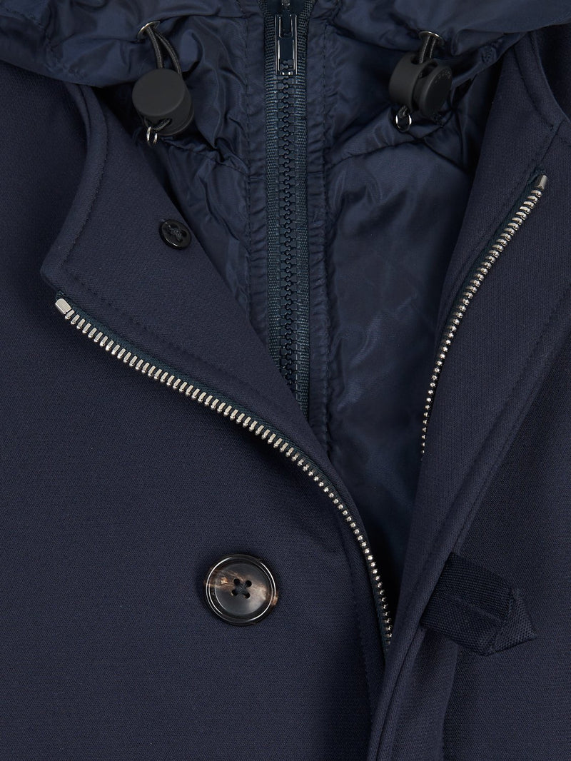 Joseph Mersey Military Cotton Coat Navy | Malford of London Savile Row and Luxury Formal Wear Sale Outlet