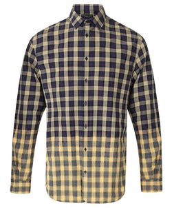 Joseph Multi Fade Check Cotton Shirt | Malford of London Savile Row and Luxury Formal Wear Sale Outlet