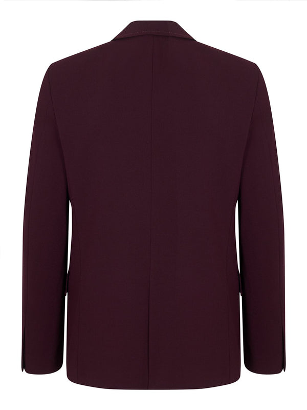Joseph Reading Techno Wool Jacket Burgundy | Malford of London Savile Row and Luxury Formal Wear Sale Outlet