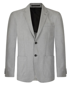 Joseph Venice Grey Chine Melange Jacket | Malford of London Savile Row and Luxury Formal Wear Sale Outlet