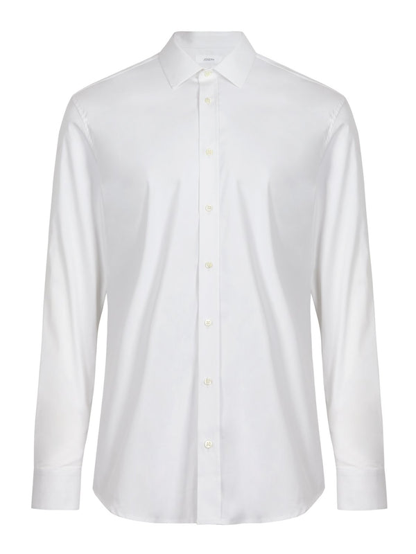 Jospeh Cecile Poplin Shirt White | Malford of London Savile Row and Luxury Formal Wear Sale Outlet