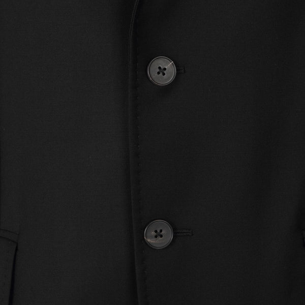 Jospeh Pierto Black Wool Jacket | Malford of London Savile Row and Luxury Formal Wear Sale Outlet