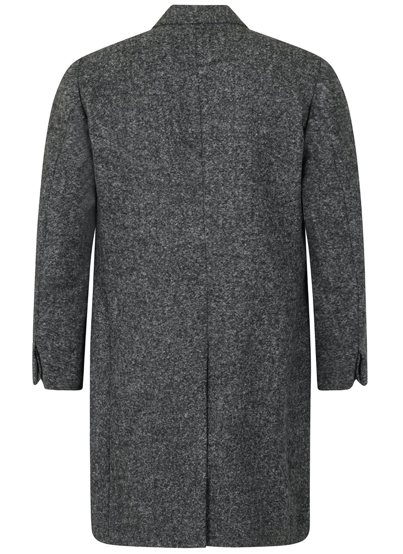 Kilgour Alpaca Wool Overcoat Mid Grey | Malford of London Savile Row and Luxury Formal Wear Sale Outlet