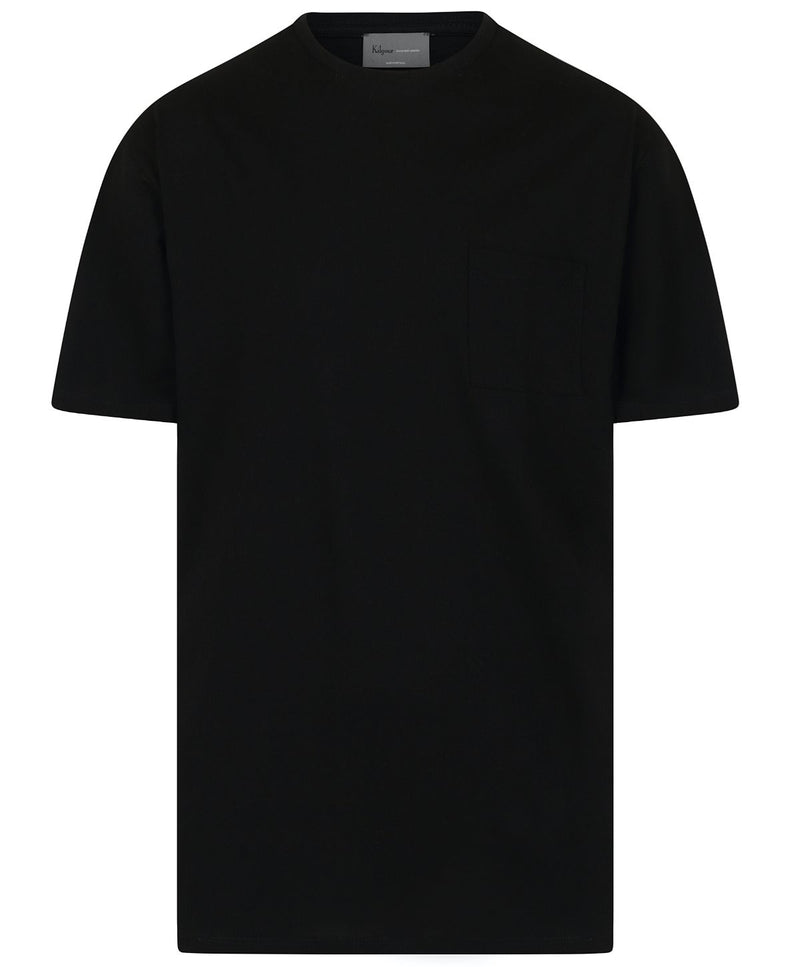 Kilgour Black Pocketed Luxury T-Shirt | Malford of London Savile Row and Luxury Formal Wear Sale Outlet