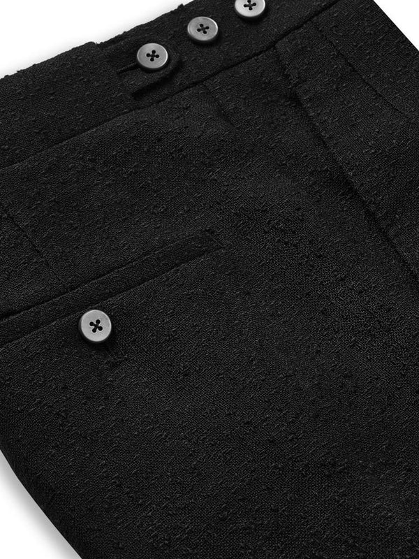 Kilgour Classic Linen Trousers Black | Malford of London Savile Row and Luxury Formal Wear Sale Outlet