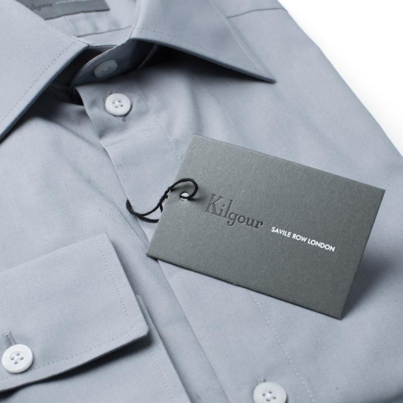 Kilgour Luxury Cotton Shirt Grey | Malford of London Savile Row and Luxury Formal Wear Sale Outlet