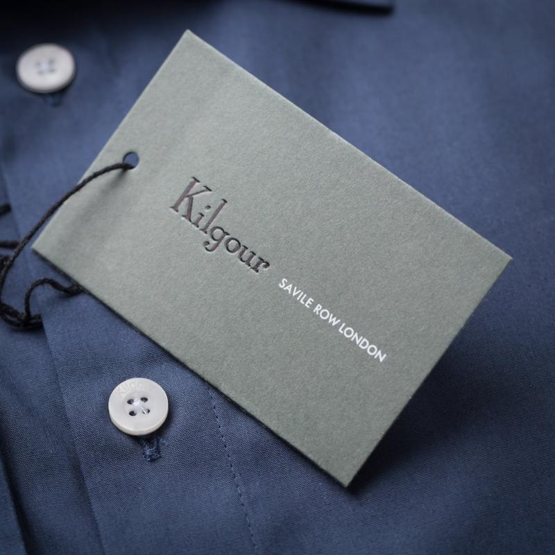 Kilgour Luxury Cotton Shirt Navy | Malford of London Savile Row and Luxury Formal Wear Sale Outlet