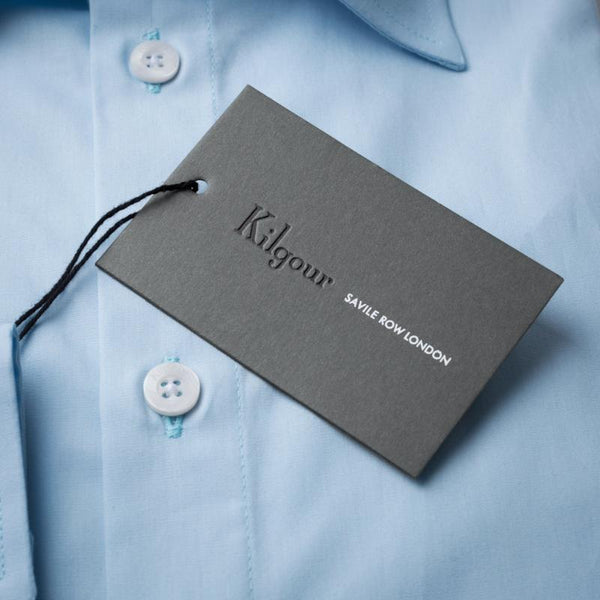 Kilgour Luxury Cotton Shirt Sky | Malford of London Savile Row and Luxury Formal Wear Sale Outlet