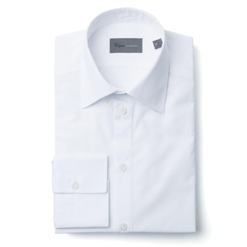 Kilgour Luxury Cotton Shirt White | Malford of London Savile Row and Luxury Formal Wear Sale Outlet