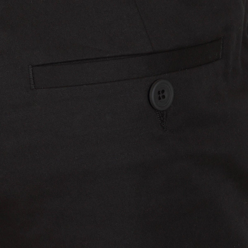 Kilgour Luxury Slim Fit Cotton Blend Chino Black | Malford of London Savile Row and Luxury Formal Wear Sale Outlet