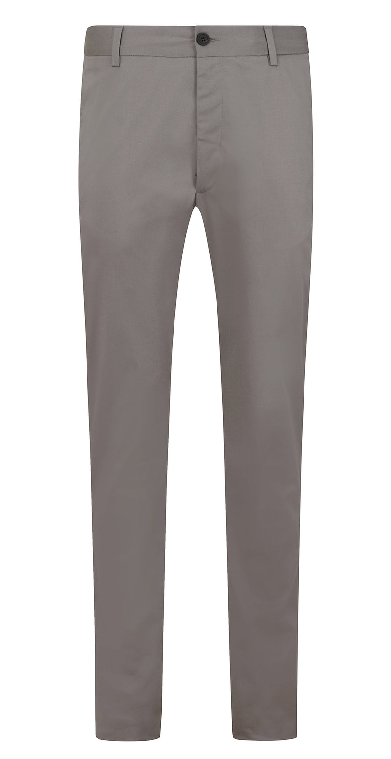 Kilgour Luxury Slim Fit Cotton Blend Chino Charcoal Grey | Malford of London Savile Row and Luxury Formal Wear Sale Outlet