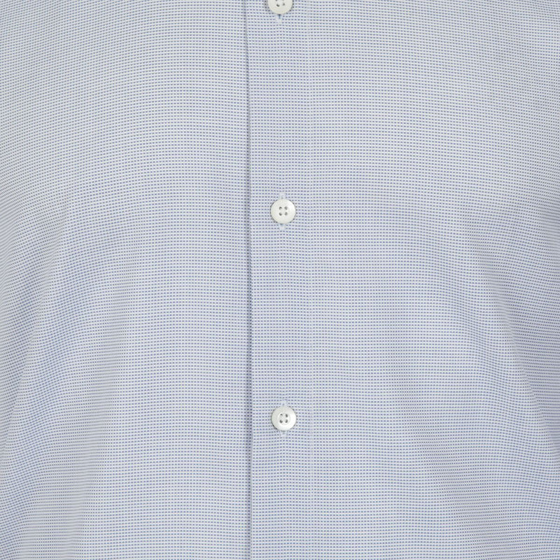 Kilgour Mid Blue Small Check Cotton Shirt | Malford of London Savile Row and Luxury Formal Wear Sale Outlet