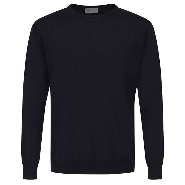 Kilgour Navy Crew Neck Knit | Malford of London Savile Row and Luxury Formal Wear Sale Outlet