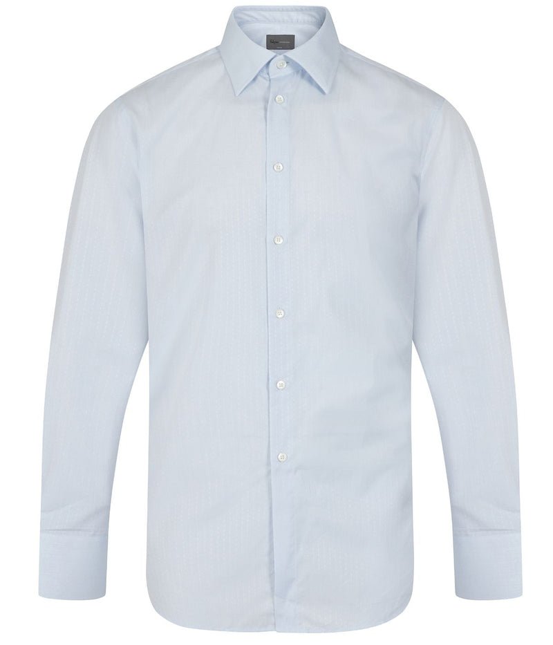 Kilgour Sky Small Cross Cotton Shirt | Malford of London Savile Row and Luxury Formal Wear Sale Outlet