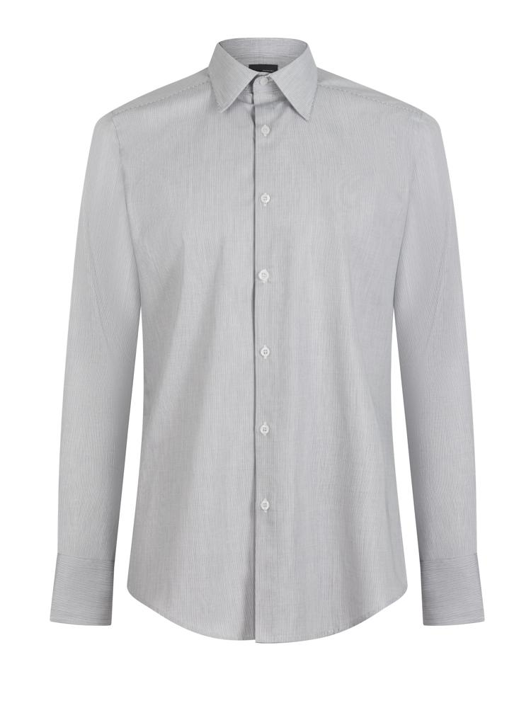 Kilgour Stripe Shirt Grey | Malford of London Savile Row and Luxury Formal Wear Sale Outlet