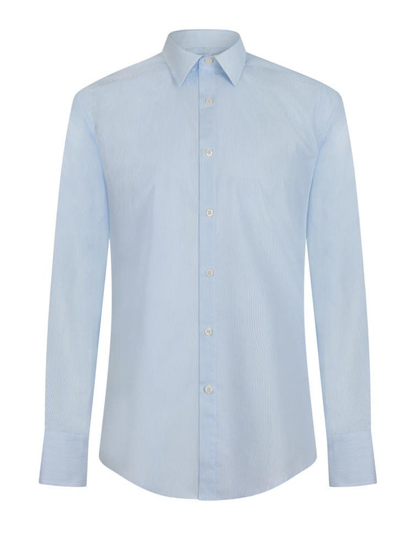 Kilgour Stripe Shirt Light Blue | Malford of London Savile Row and Luxury Formal Wear Sale Outlet
