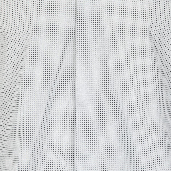 Kilgour White Black Dott Cotton Shirt | Malford of London Savile Row and Luxury Formal Wear Sale Outlet