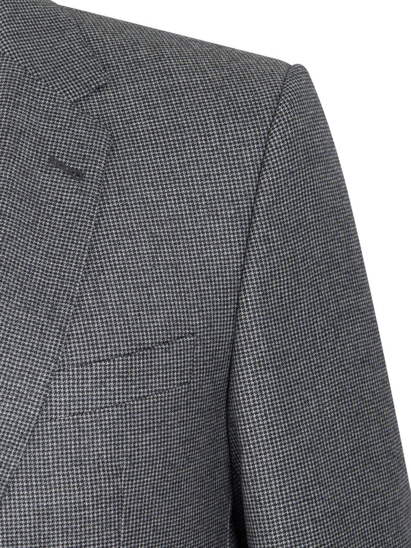 Louis Feraud Classic 3 Peice Wool Suit - Houndstooth | Malford of London Savile Row and Luxury Formal Wear Sale Outlet