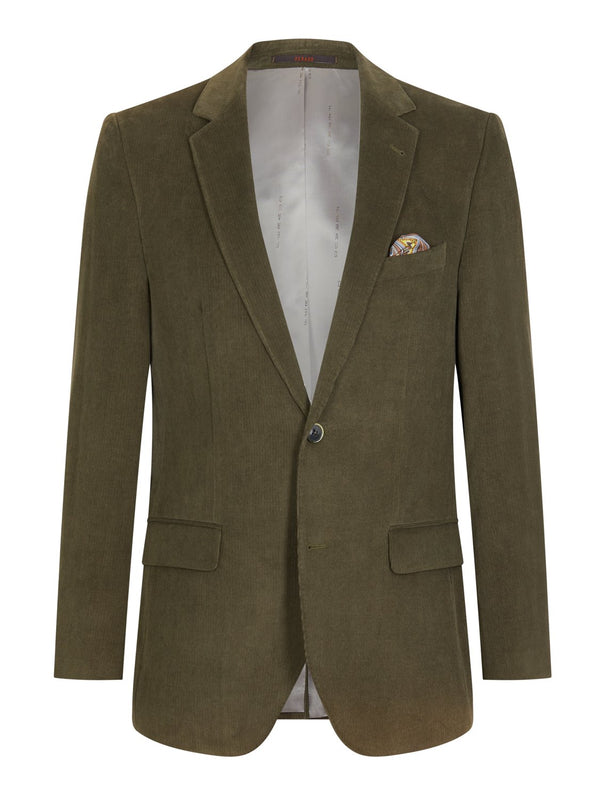 Louis Feraud Classic Cord Suit - Green | Malford of London Savile Row and Luxury Formal Wear Sale Outlet