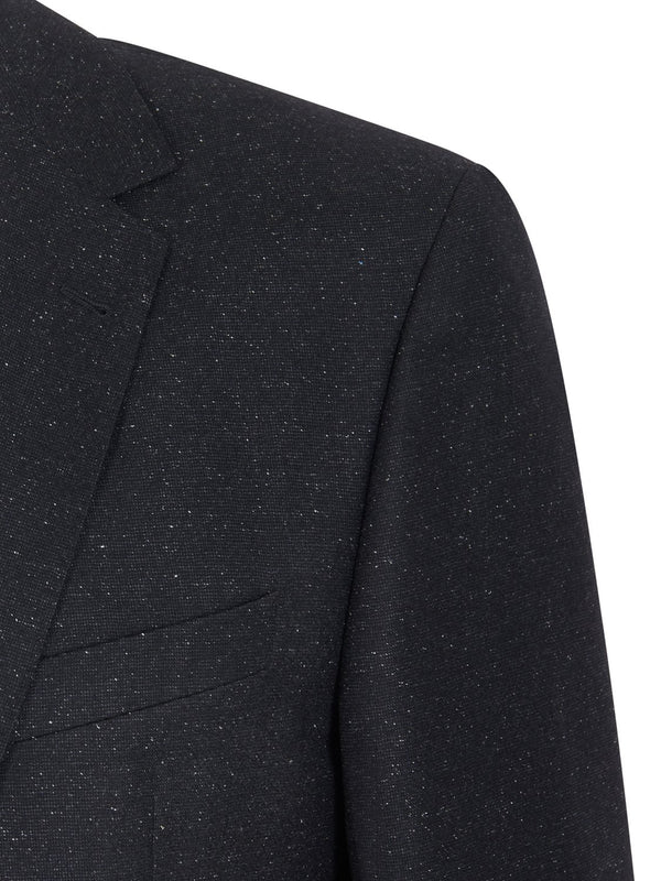 Louis Feraud Classic Wool Suit - Black Fleck | Malford of London Savile Row and Luxury Formal Wear Sale Outlet