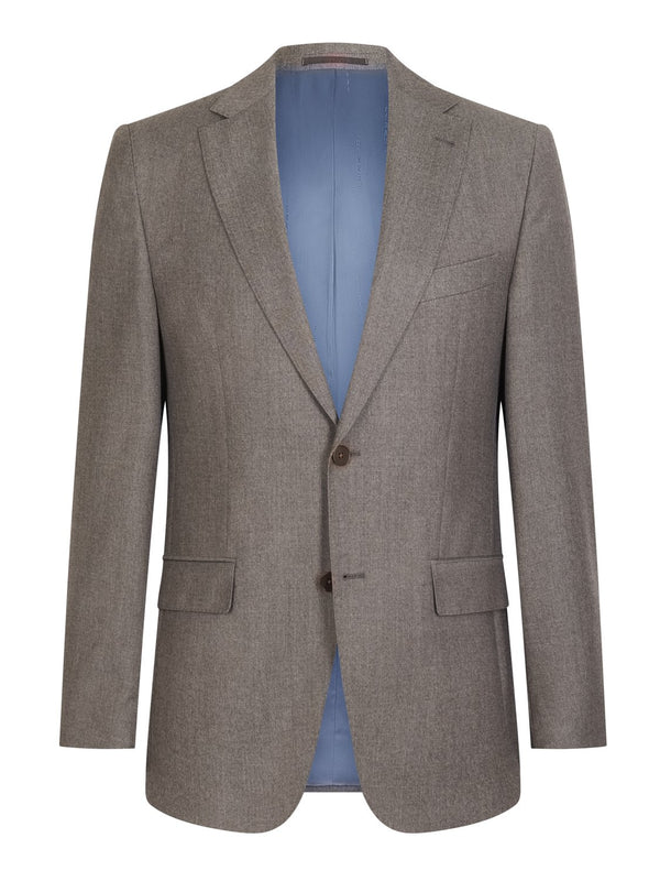 Louis Feraud Classic Wool Suit - Fawn | Malford of London Savile Row and Luxury Formal Wear Sale Outlet