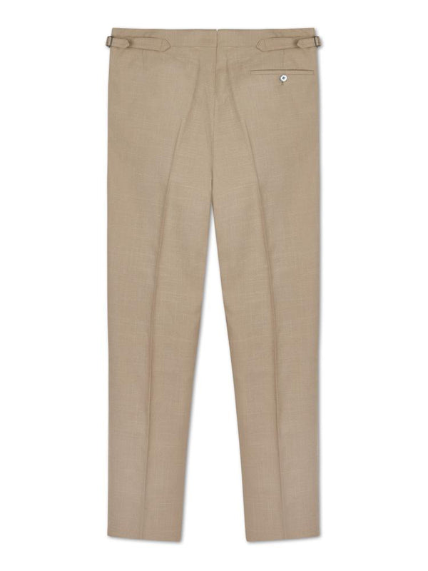 Thomas Pink Silk Linen Trousers | Malford of London Savile Row and Luxury Formal Wear Sale Outlet