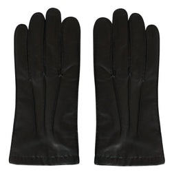 Turnbull & Asser Black Leather Gloves With Cashmere Lining | Malford of London Savile Row and Luxury Formal Wear Sale Outlet