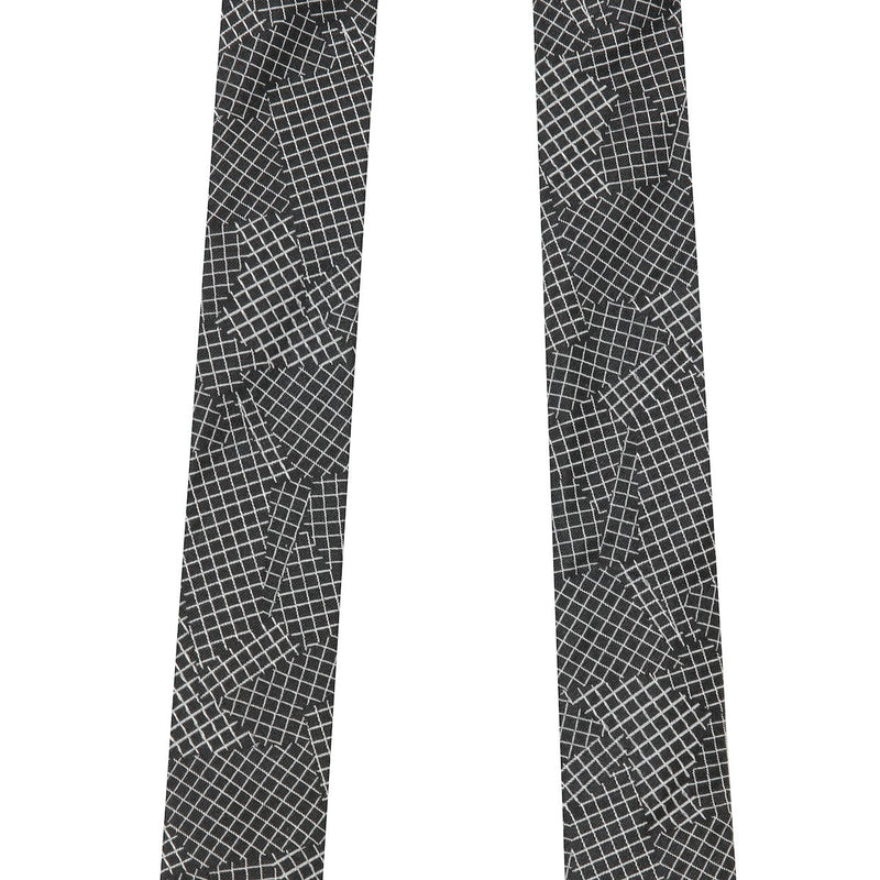 Turnbull & Asser Grey & Black Geometric Adjustable Braces | Malford of London Savile Row and Luxury Formal Wear Sale Outlet