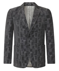 Turnbull & Asser Grey Square Pattern Jacket Made In England | Malford of London Savile Row and Luxury Formal Wear Sale Outlet
